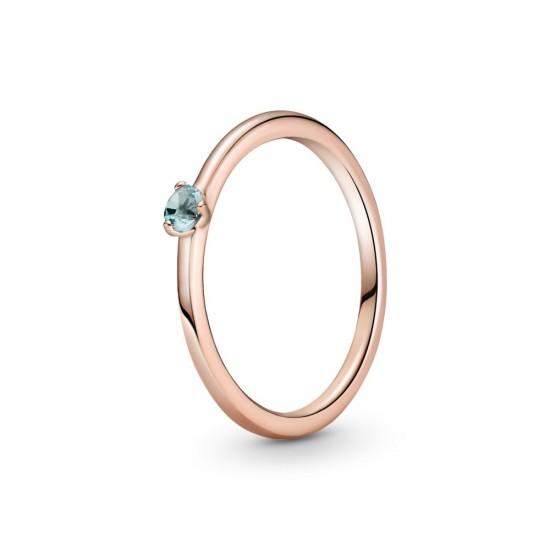 Světle modrý solitérní prsten