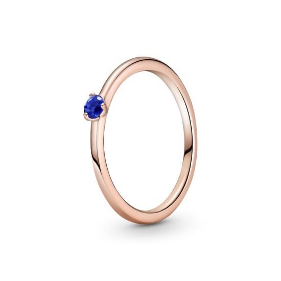 Zářivě modrý solitérní prsten