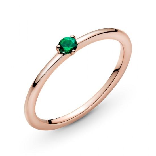 Zelený solitérní prsten