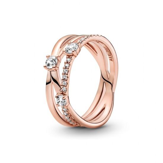 Prsten Třpytivý trojitý kroužek