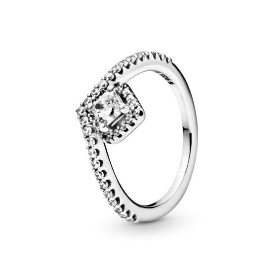 Prsten Kost přání ahranatý třpyt