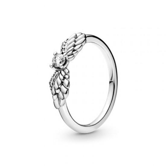 Prsten Třpytivá andělská křídla