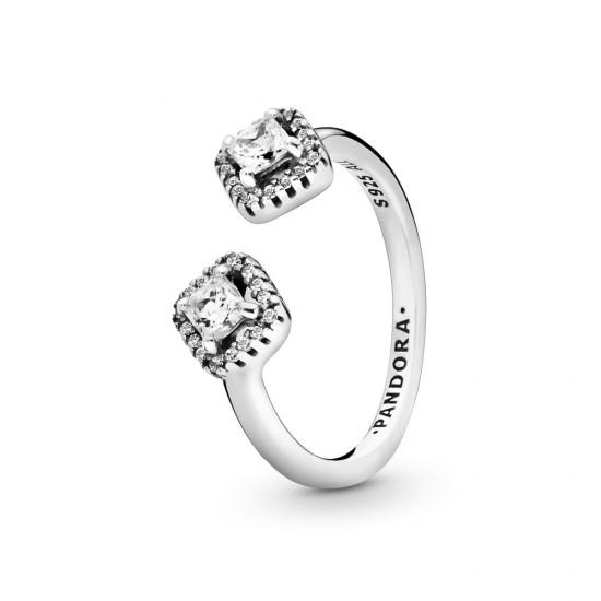 Otevřený prsten Hranatý třpyt