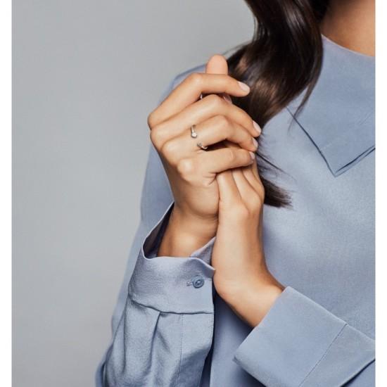 Otevřený prsten Leštěné srdce