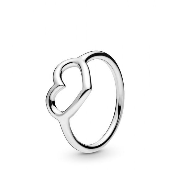 Prsten Leštěné otevřené srdce