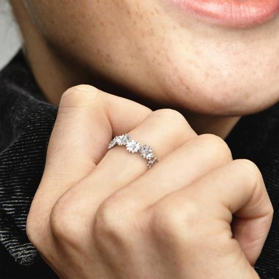 Prsten Věneček ze třpytivých sedmikrásek