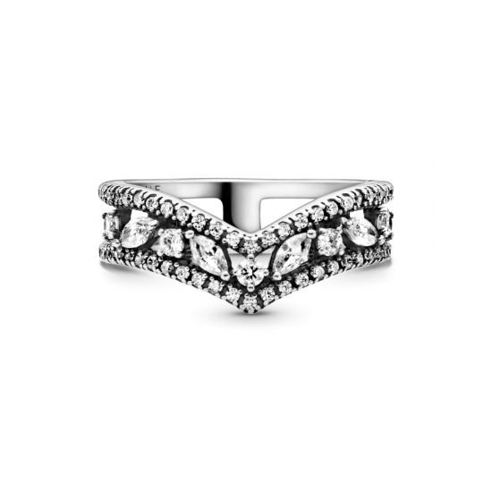 Prsten Třpytivá dvojitá markýzová kost přání
