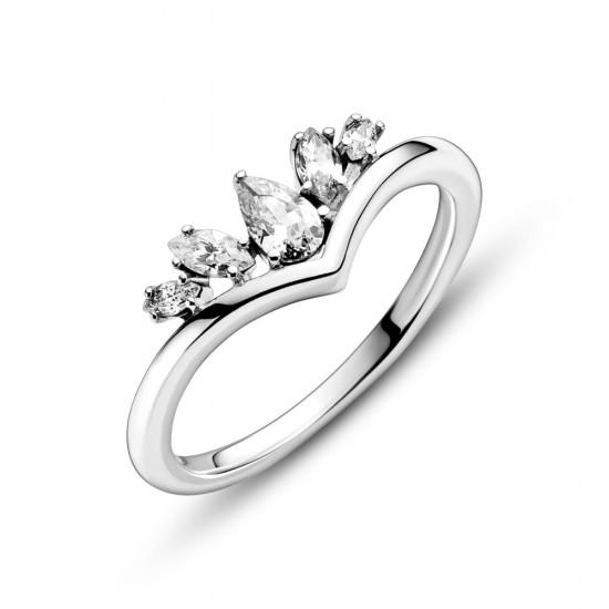 Prsten Kost přání s hruškovitými a zašpičatělými kameny