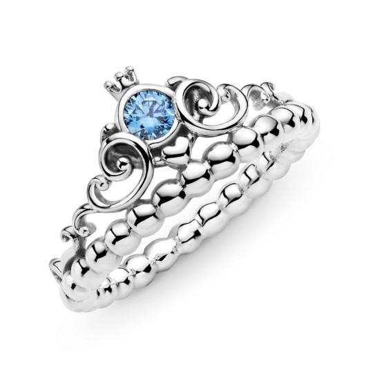 Prsten Disney Popelčina modrá korunka