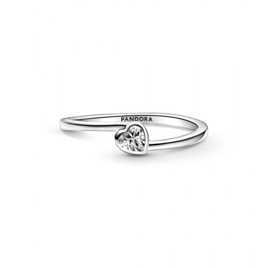 Solitérní prsten Čiré nakloněné srdce