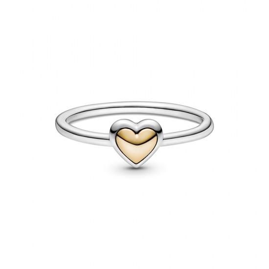 Prsten Klenuté zlaté srdce