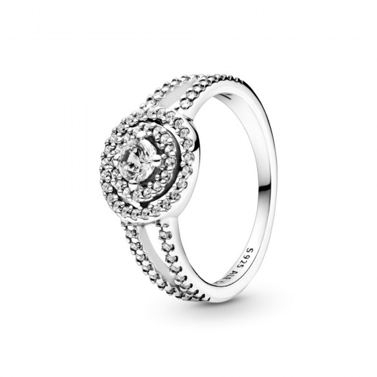 Prsten Třpytivá dvojitá aureola