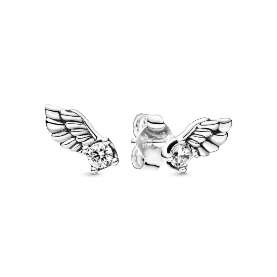 Peckové náušnice Třpytivá andělská křídla