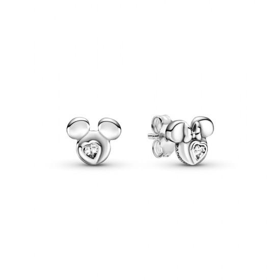 Peckové náušnice Disney siluety Mickey Mouse a Minnie Mouse