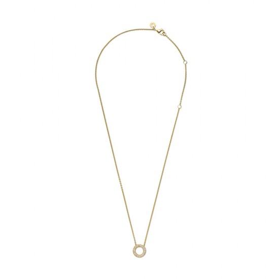 Krátký náhrdelník Pavé kroužek slogem Pandora