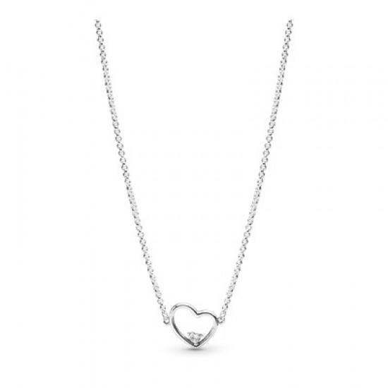 Náhrdelník Asymetrické srdce lásky