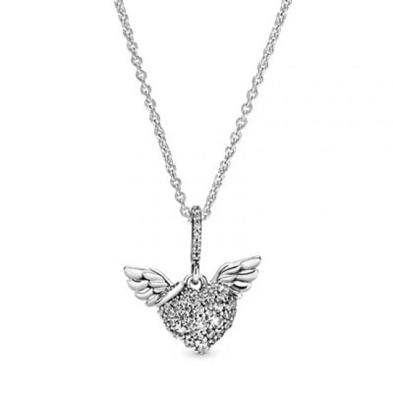 Náhrdelník Pavé srdce sandělskými křídly