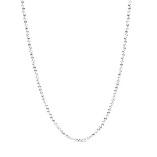 Řetízkový náhrdelník s leštěnými kuličkami