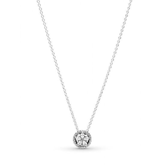 Krátký náhrdelník Třpytivá sněhová vločka