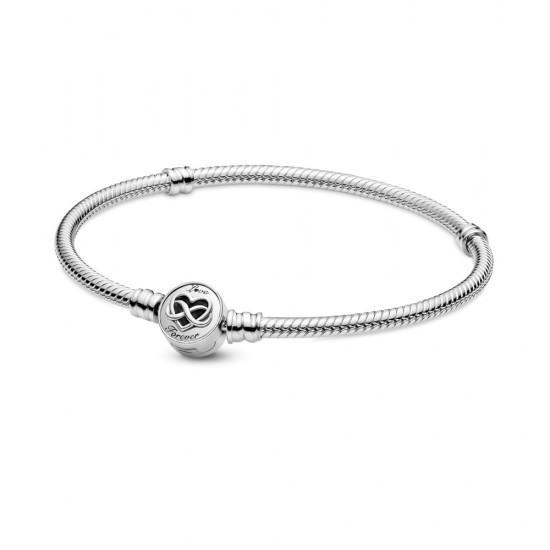 Hadovitý řetízkový náramek Pandora Moments Spona se srdcem anekonečnem