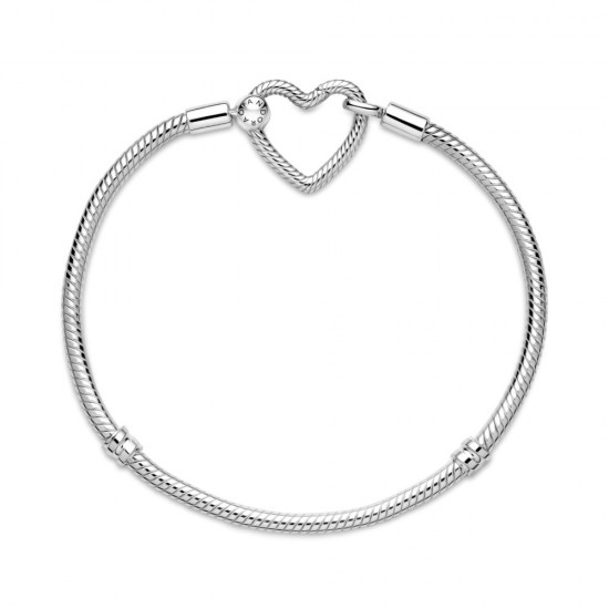 Hadovitý řetízkový náramek Pandora Moments Srdcové zapínání