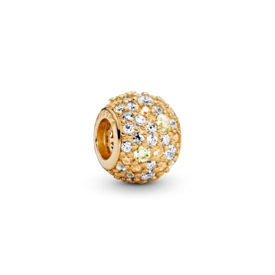 Zlatý přívěsek s kamínky pavé