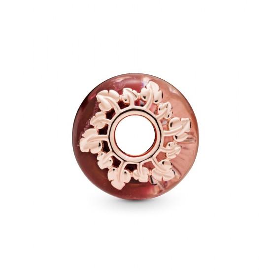 Přívěsek Růžové Murano sklo alisty
