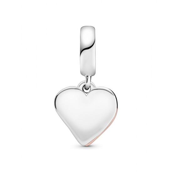 Visací přívěsek Třpytivé srdce nepravidelného tvaru