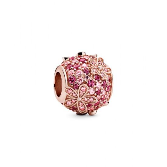 Přívěsek Růžové pavé sedmikrásky