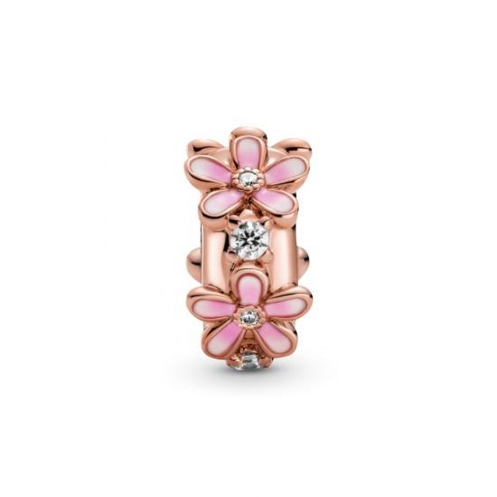 Oddělovací klipový přívěsek Růžové sedmikrásky