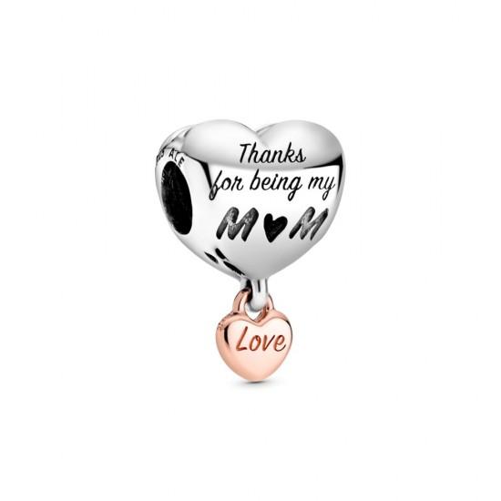 Přívěsek Srdce Love You Mum