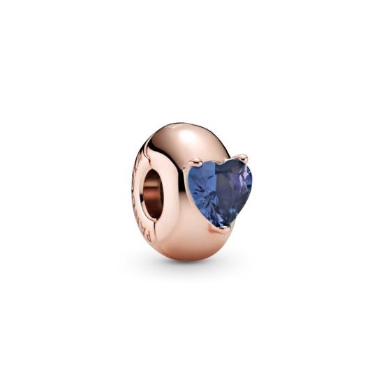 Klipový přívěsek Modré solitérní srdce