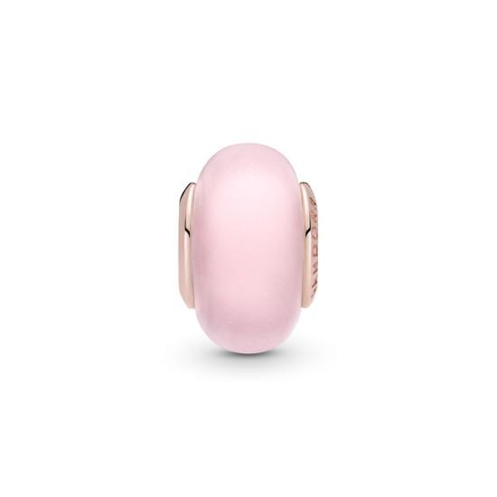 Přívěsek Matné růžové Murano sklo