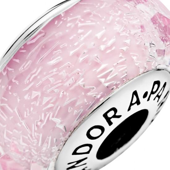 Růžové jiskřivé broušené sklo