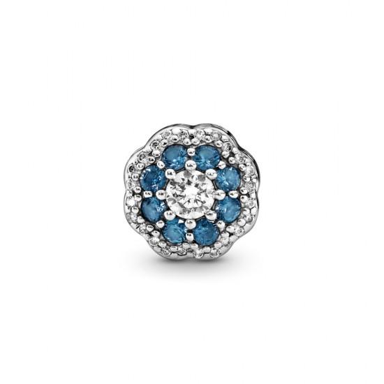 Přívěsek Modrá třpytivá květina