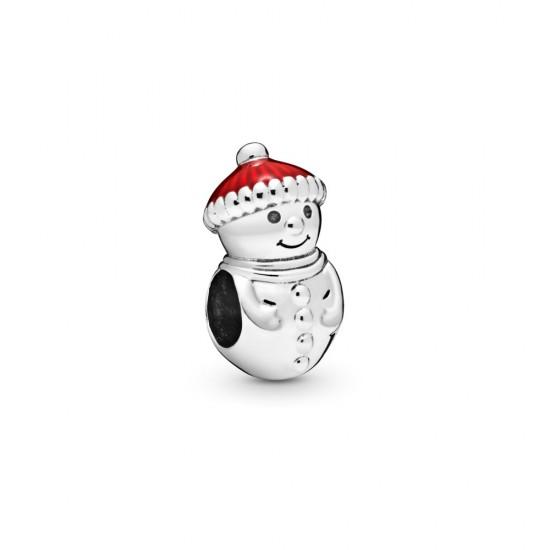 Přívěsek Sněhulák svánoční čepicí