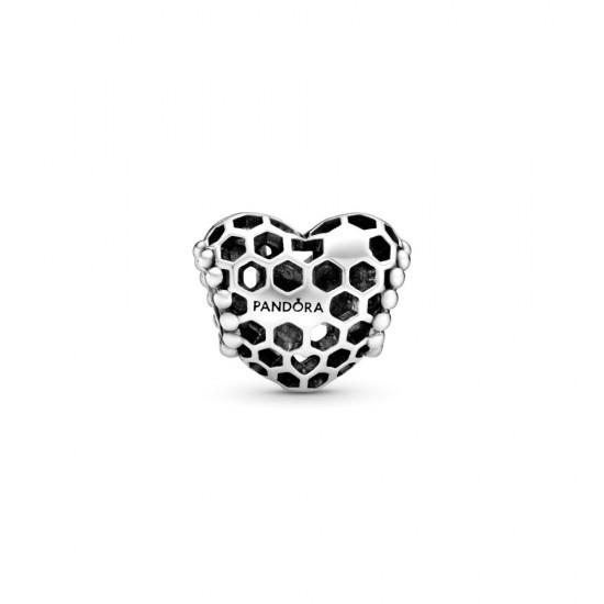 Přívěsek Plástvové srdce Bee Happy