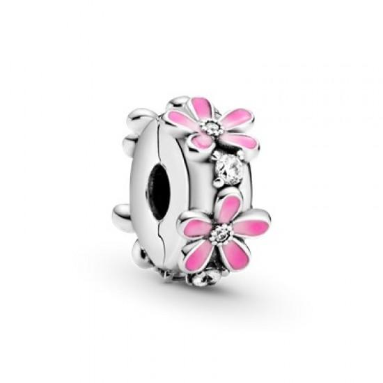 Klipový přívěsek Růžové sedmikrásky