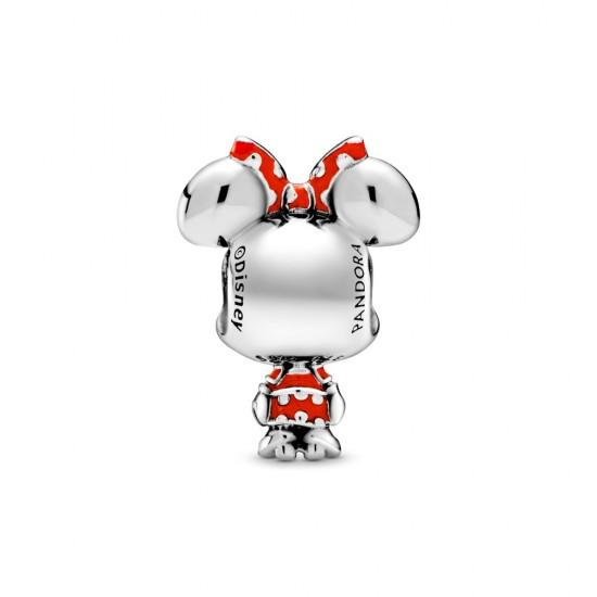 Přívěsek Disney myška Minnie s puntíkovanými šaty a mašlí