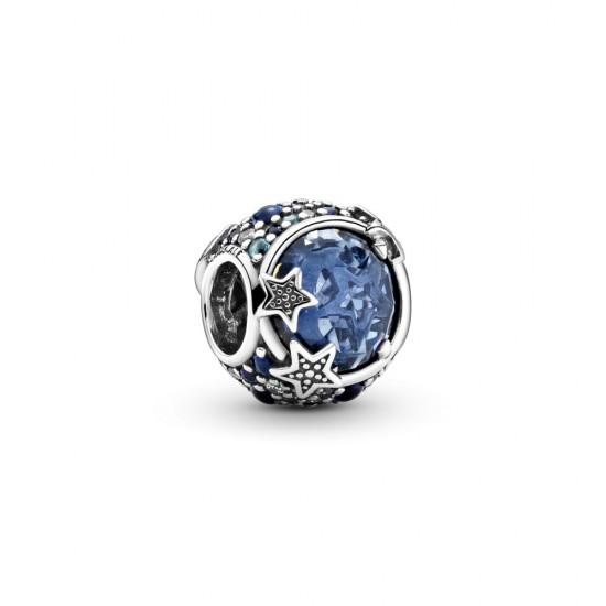 Přívěsek Nebe plné modrých třpytivých hvězd