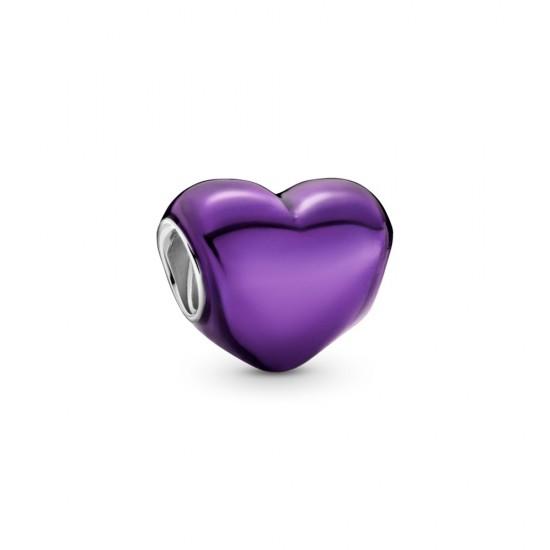 Přívěsek Metalické fialové srdce