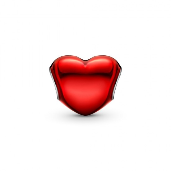 Přívěsek Metalické červené srdce