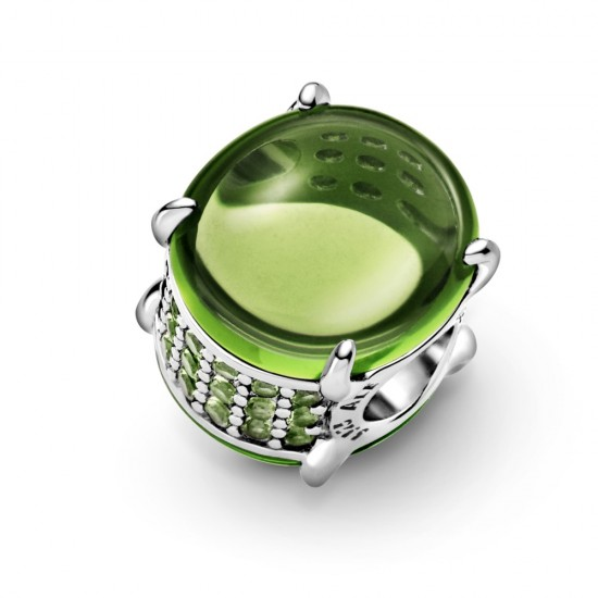 Přívěsek Zelený oválný kabošon