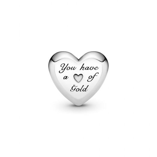 Přívěsek Klenuté zlaté srdce