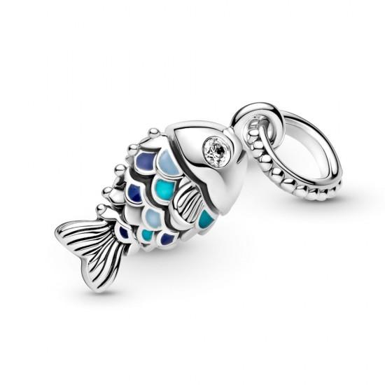 Visací přívěsek Modrá šupinatá ryba